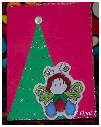 Christmas card WOB Butterfly