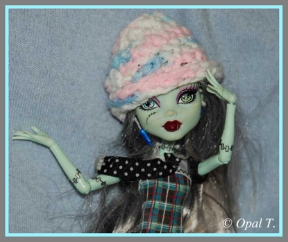 Monster High doll Frankie Stein Crocheted Hat