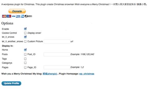 WordPress Plugin Christmas