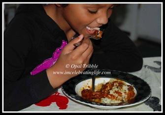 Sauce Chicken brown rice 03 31 12