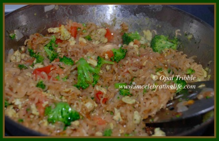 Stir fry vegetables ramen noodle 1