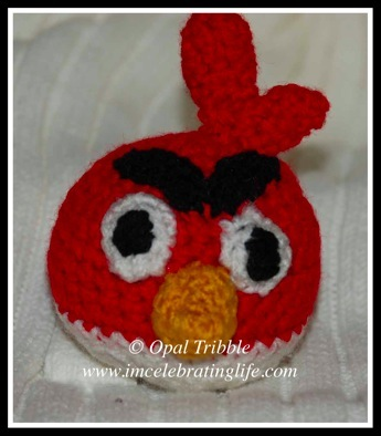 Crocheted red angry bird 2