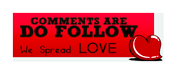 Do follow badge redheart