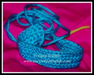 Crochet Leviathan band bracelet pattern testing 2