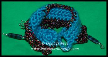 Crochet Leviathan band bracelet 3 05 27 12
