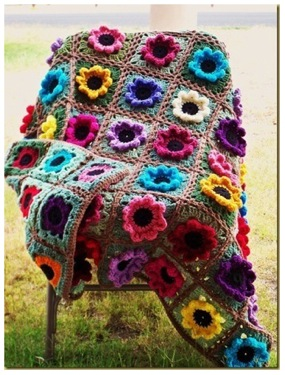 Home Garden Flower Afghan