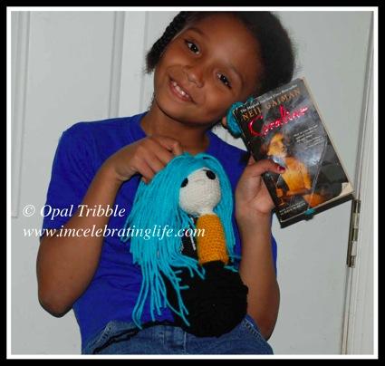 Amigurumi crochet Coraline daughter book