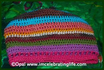 Crochet Scraptastic hat 3