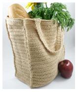 Crochet paperless grocery bag