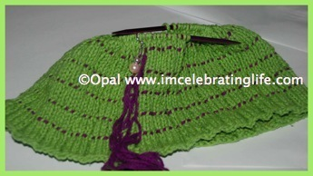 Knitted ridged beanie hat 2 new