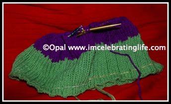 Knitting beanie hat 1