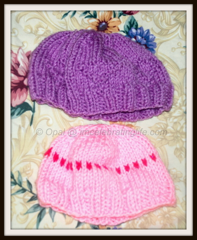 "Knitting"" Preemie hats"