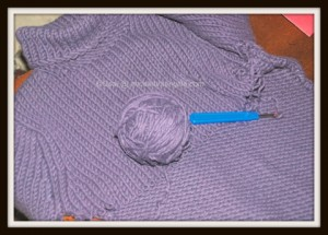Repurposed yarn: unravelleing sweater for yarn