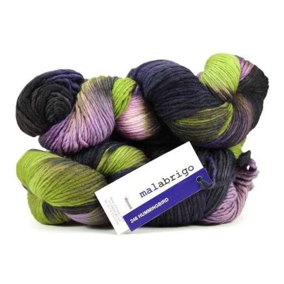 Malabrigo yarn; Hummingbird