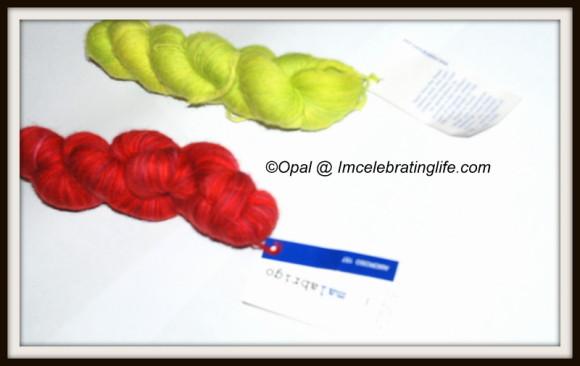 Malabrigo Baby Lace Amoroso and  Apple Green