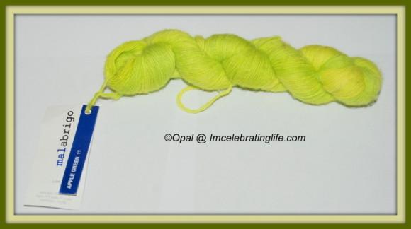 Malabrigo Baby Lace Merino Apple Green, so soft and squishy!
