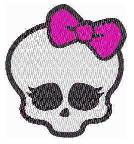 Monster High logo turned to an embroidery file