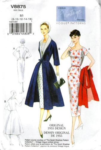 Vintage pattern Vogue 8875