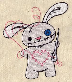 This is the Urban Threads Stitchy Bunny. I didn't embroidery this, it's the sample that is featured on their site.