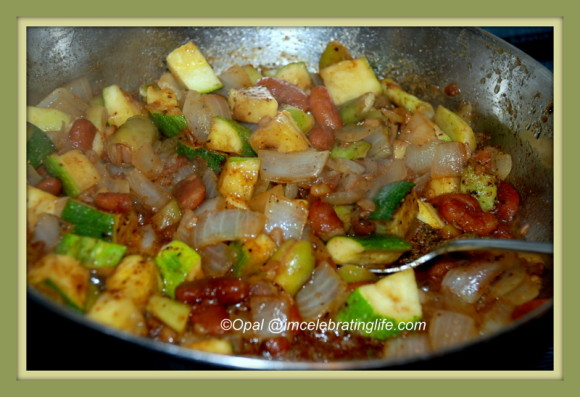 Kidney beans, zucchini_1