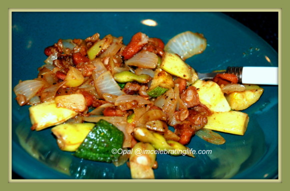 Kidney beans, zucchini_2