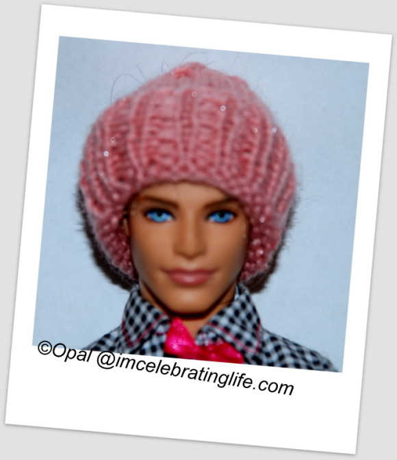Knitted hat for daughter's Ken doll_1