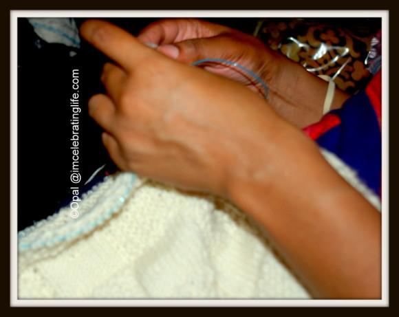 Knitting - Checkered cowl_3