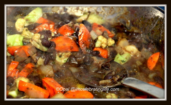 Vegan - Black beans and vegetables_2