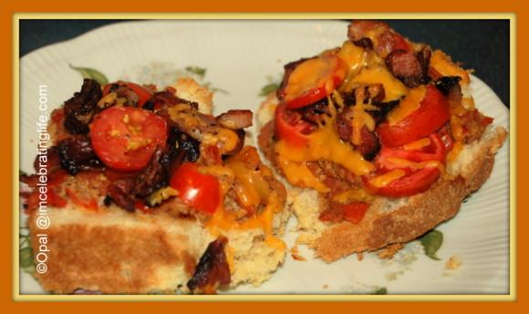 Bruschetta & pesto sauce