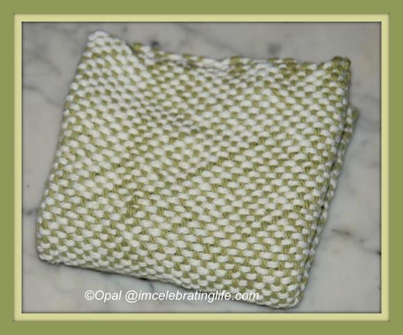 Loom woven dishcloth_1
