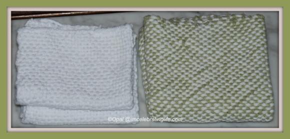 Loom woven washcloth&dishcloth