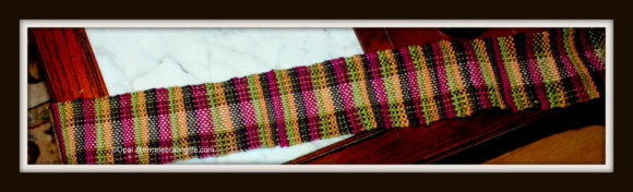 Weaving Kromski Doll Scarf_3