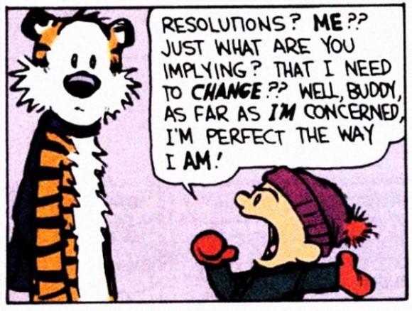 Calvin Hobbes New years resolution