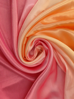 Pink Tangerine Ombre Poly Charmeuse 59W