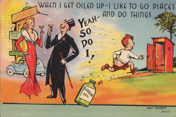 castor oil comic