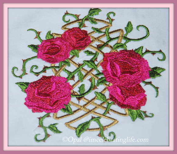 Machine Embroidery Roses scrollwork - 05.20.14