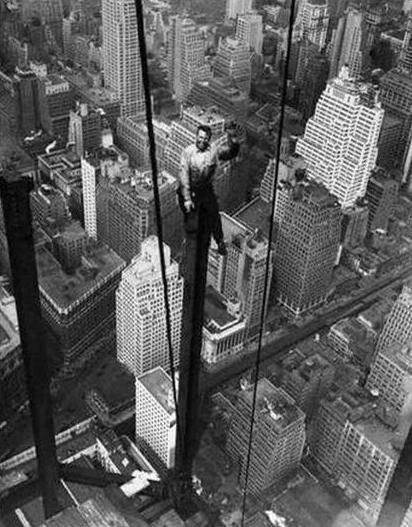 Labor Day Man on beam