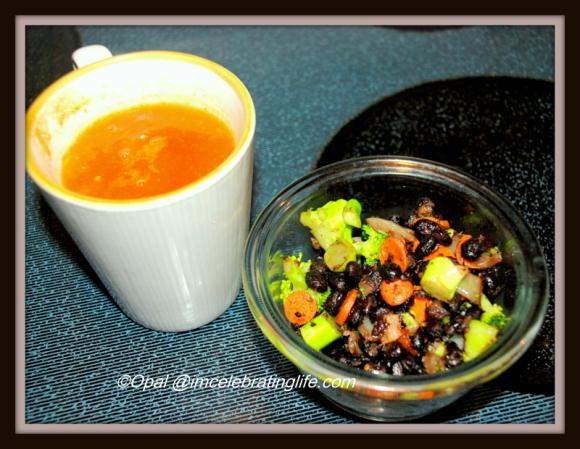Bean w veggies and soup 12.11.14