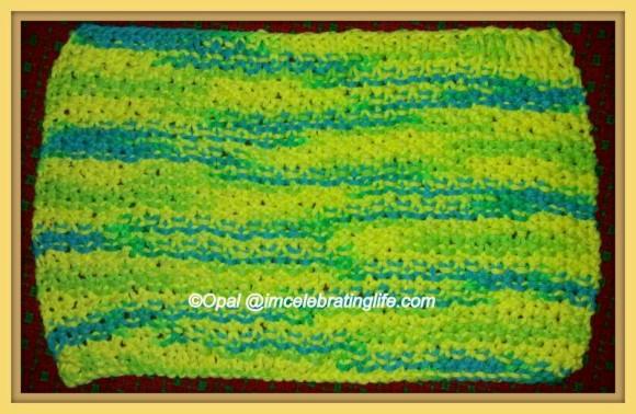 Knitted Washcloth - Moss Stitch