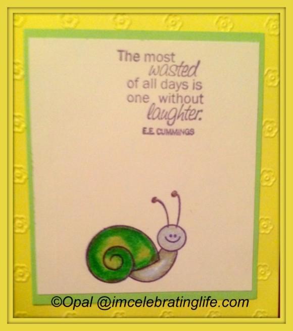 Stamping - Snail Card