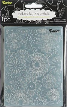 Darice Embossing Folder - Flower Frenzy Background