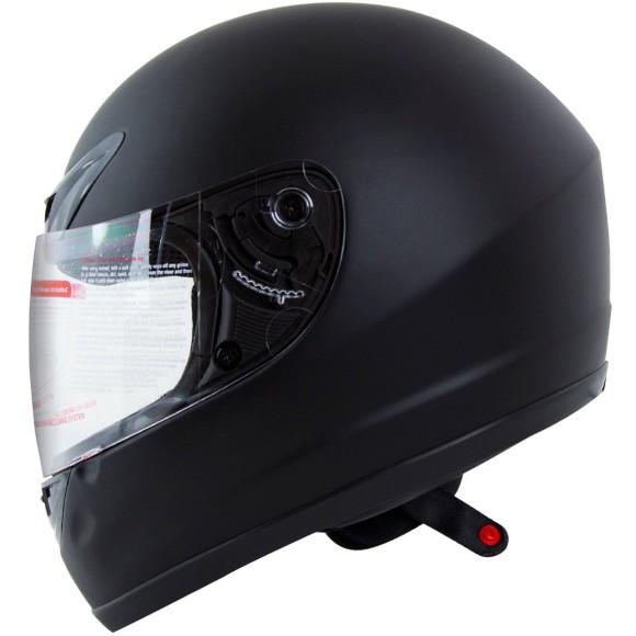 Matte Flat Black Full Face Motorcycle Helmet DOT +2