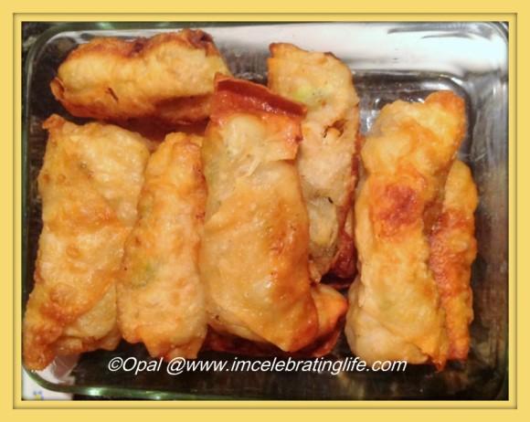Kimchi eggrolls