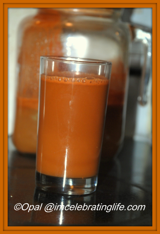 Juicing Carrot, apple, ginger